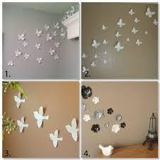 Wall Art Decor Ideas Amazing DIY Great Brown Wallpaper Background White Butterflies