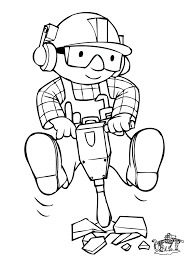 Bob The Builder Coloring Pages Free