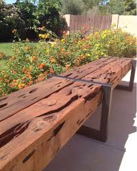 Rustic Modern Patio Furniture Cedar Wood Bench By RustyRailDesigns