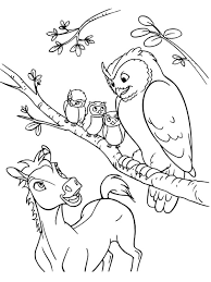 Pony With Owls Free Coloring Sheet You Could Print And Color Several Horses Pages For Your Own Book