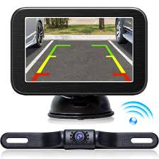 100 Backup Camera System For Trucks Wireless With Monitor 5 LCD Wireless Monitor
