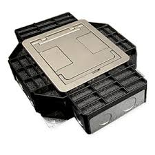 legrand wiremold rfb4 series four compartment floor box with