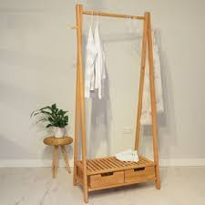 Decorative Clothes Rack Australia by Wooden Clothes Rails And Stands Notonthehighstreet Com