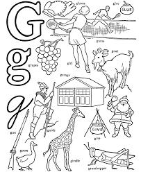 ABC Alphabet Words Coloring Activity Sheet