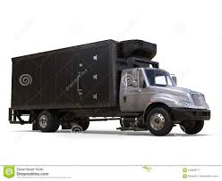 Silver Refrigerator Truck With Black Trailer Unit Stock Illustration ...