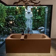 badewanne mineralwerkstoff serie freeze 180 cm rost matt 190 liter