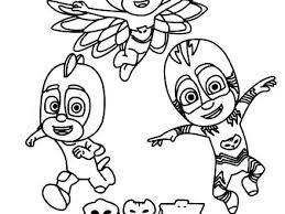 Pj Masks Coloring Pages Luna Girl Mask Page Baby Free Cartoon Angry Birds
