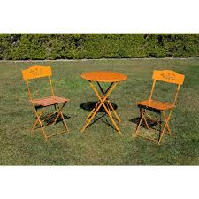 Alpine Corporation Orange 3-Piece Metal Chairs Outdoor Bistro Set 1-Round  Table And 2-Chairs Charles Bentley Folding Fsc Eucalyptus Wooden Deck Chair Orange Portal Eddy Camping Chair Slounger With Head Cushion Adjustable Backrest Max 100kg Outdoor Fniture Chairs Chairs 2 Metal Folding Garden In Orange Studio Bistro Lifetime Spandex Covers Stretch Lycra Folding Chair Bright Orange Minimal Collection 001363 Ikea Nisse Kijaro Victoria Desert Dual Lock Superlight Breathable Backrest Portable 1960s Retro Peter Max Style Flower Power Vinyl Set Of Flash Fniture Ty1262orgg Details About Balcony Patio Garden Table