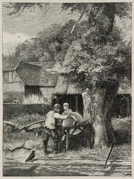 At The Grindstone Engraved By Dalziel Brothers John William