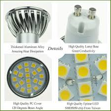 gu10 led light bulbs 3000k 20pcs smd led spotlight wide beam