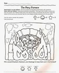 The Fiery Furnace Coloring And Activity Sheet