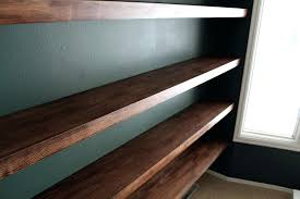 Real Wood Wall Shelves Floating Target Wooden Shelving Heavy Duty Hidden Shelf Brackets Paint Speckled
