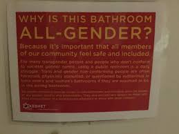 Gender Inclusive Bathroom Sign by All Gender Bathroom Sign Excuse Me While I Go To The Unisex Room