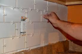 Home Depot 116 Tile Spacers by Diy Subway Tile Backsplash