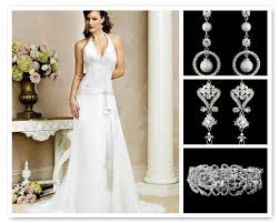 Modern Wedding Dress Ideas With Top Silver White Pearl Cz Earrings Clear