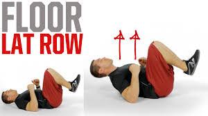 Exercise Floor by Floor Lat Row Youtube