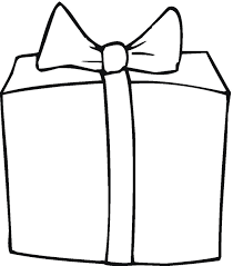 Gift clipart black and white 11