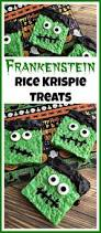Rice Krispie Treats Halloween Theme by Cute Frankenstein Rice Krispie Treats