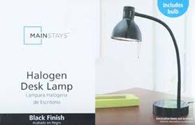 Mainstays Floor Lamp Manual by Mainstays Halogen Desk Lamp Black Walmart Com