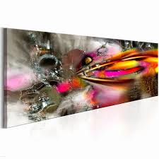 cadre cuisine peinture ardoise avec peinture sur toile abstraite deco
