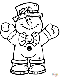 Hugging Snowman Coloring Page Free Printable Pages For