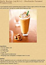 Starbucks Frape Recipe