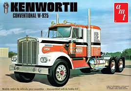 AMT Kenworth W925 Conventional Tractor 1/25 Scale Truck Model Kit ...
