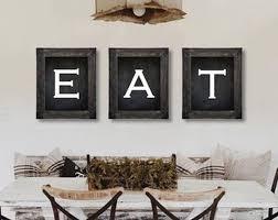 Farmhouse Decor Eat Sign Dining Room Wall Art Kitchen