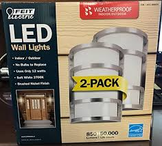 electric led wall sconce indoor 2 pack
