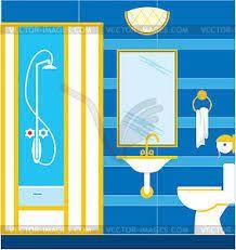 bildergebnis für badezimmer clipart duschkabine