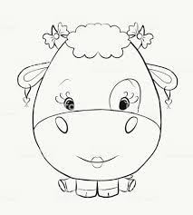 Livre De Coloriage Vache Femelle Cartoon Design Isolated On White