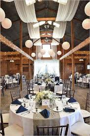 Elegant Barn Wedding Reception Rustic Draping Idea
