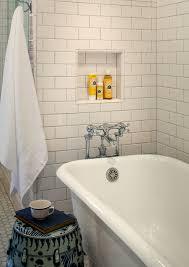 bath niche cottage bathroom rustic rooster interiors