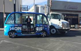 100 Las Vegas Truck Driving School Selfdriving Bus Gets Into Accident On Its First Day In
