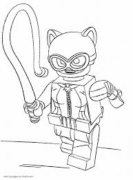Lego Catwoman Coloring Pages Batman
