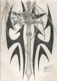 Dragon Sword Tattoo By Primee133