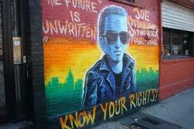 the joe strummer mural is no more village voice