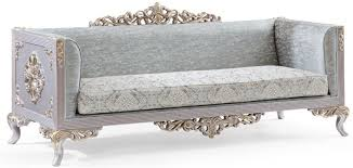 casa padrino luxus barock sofa türkis silber gold 225 x 86 x h 98 cm edles wohnzimmer sofa im barockstil barock möbel