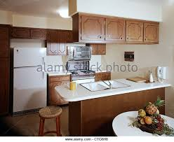 1960s 1970s GALLEY KITCHEN INTERIOR