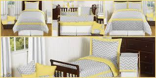 gray and yellow zig zag chevron baby kids bedding