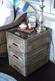 side table wooden crate side table diy wood box side table