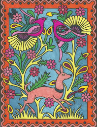 Mary Bakker 18 Division From Mexican Designs Stained Glass Coloring Book