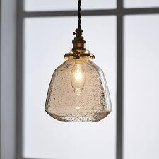 pendelleuchte glas mit luftblase 1 flammig für esszimmer