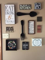 Wooden Fork And Spoon Wall Hanging by My Kitchen Gallery Wall All Decor From Hobby Lobby And Ross