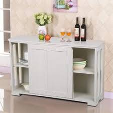 Yaheetech Antique White Stackable Sideboard Buffet Storage Cabinet With Sliding Door Kitchen Dining Room Furniture