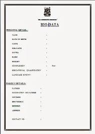 Image Result For Marriage Biodata Format Download Word Sample Resume
