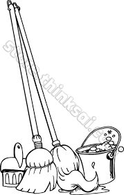 Coloring Pages Brooms Mops Buckets