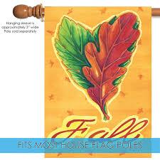 100 The Leaf House Toland Home Garden Heart Leaves 28 X 40 Inch Decorative Fall Autumn Flag