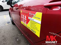 Car Door Magnet Malaysia | Vehicle Advertising Magnets Malaysia