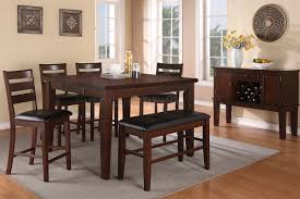 F2208 Dining Set Counter Height 5Pc Walnut By Poundex W Options